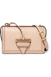 Loewe Barcelona small python shoulder bag