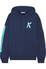 Koza Wave printed cotton-blend jersey hooded top