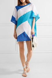 Koza K paneled cotton-gauze kaftan