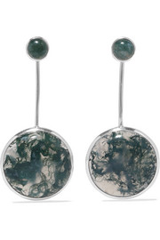 Agnus silver agate earrings