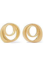 Kendrick gold-plated hoop earrings
