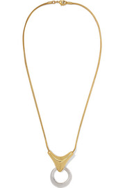 Kendrick gold-plated and silver necklace