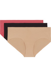 Commando Pack of three stretch-cotton briefs