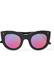 Illesteva Boca cat-eye acetate mirrored sunglasses