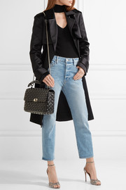 Matelassé large embellished quilted leather shoulder bag