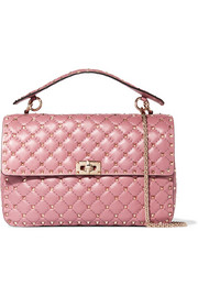 Valentino Matelassé embellished quilted leather shoulder bag