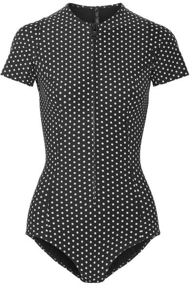 Lisa Marie Fernandez Farrah bondierter Badeanzug mit Polka-Dots