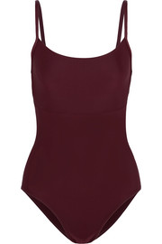 Ballet Beautiful Open-back stretch-jersey leotard