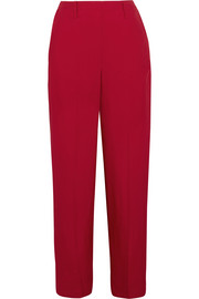 Satin-twill wide-leg pants