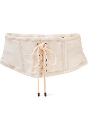 Isabel Marant Herese lace-up cotton-blend waist belt
