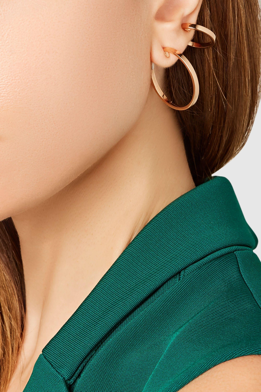 Repossi Boucle d'oreille en or rose 18 carats Elliptiques