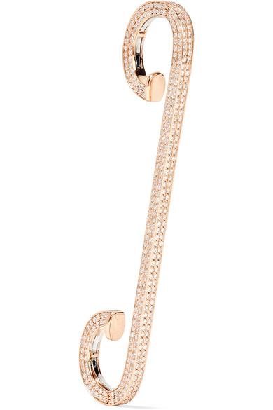 Repossi Staple 18-karat Rose Gold Diamond Ear Cuff rLHN5Tjx