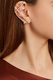 Repossi Staple 18-karat rose gold diamond ear cuff