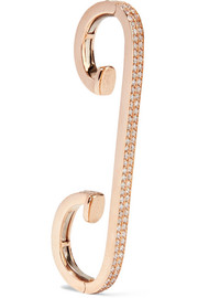 Staple 18-karat rose gold diamond ear cuff
