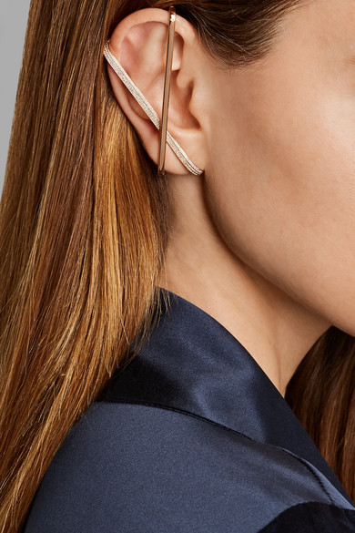 Repossi Staple 18-karat Rose Gold Diamond Ear Cuff Ijl1z