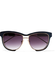 + Linda Farrow square-frame acetate and gold-tone sunglasses