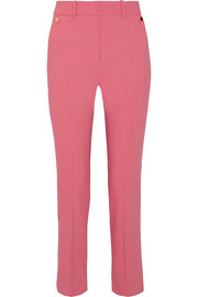 Petar Petrov Cropped cotton-blend slim-leg pants