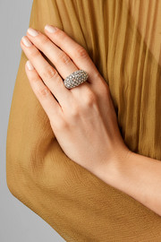 Fred Leighton Collection 18-karat gold, silver and diamond ring
