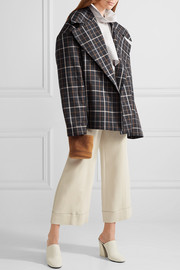 Jellycheck oversized cotton-blend twill jacket