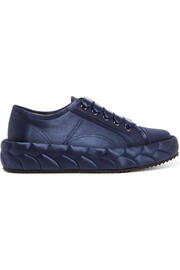 Quilted satin sneakers