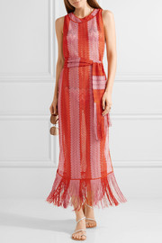 Missoni Mare fringed metallic crochet-knit maxi dress