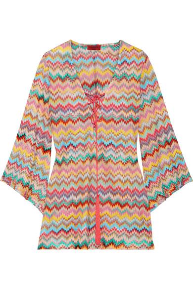Missoni - Mare Lace-up Crochet-knit Mini Dress - Orange