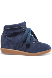 Étoile Bobby suede wedge sneakers
