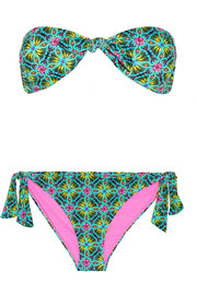 Matthew Williamson Printed bandeau bikini