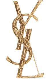 Saint Laurent Opyum gold-tone brooch