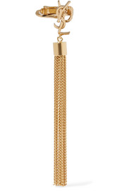 Saint Laurent Gold-plated tassel clip earring