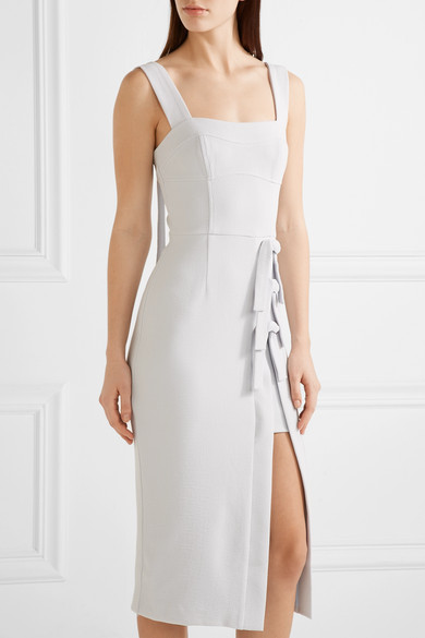 Rebecca vallance billie bow embellished stretch crepe for Net a porter