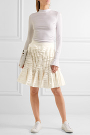The Angelo stretch-cotton and silk skirt