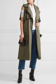 The Brave ruffle-trimmed stretch-cotton twill gilet