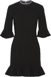 Billie ruffled stretch-crepe mini dress