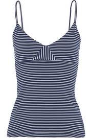 Marlo striped stretch-jersey tank