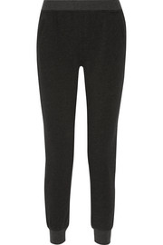 French cotton-blend terry slim-leg pants