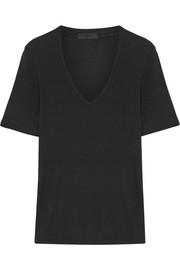 Ribbed stretch Micro Modal T-shirt