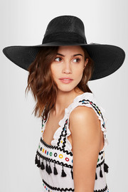 Maison Michel Pina lace-trimmed straw sunhat