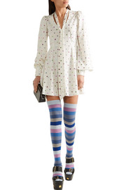Marc Jacobs Striped cotton-blend knee socks