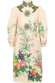 Gucci Embellished embroidered cloqué coat