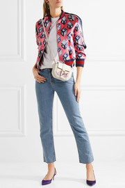 Gucci Printed duchesse-silk bomber jacket