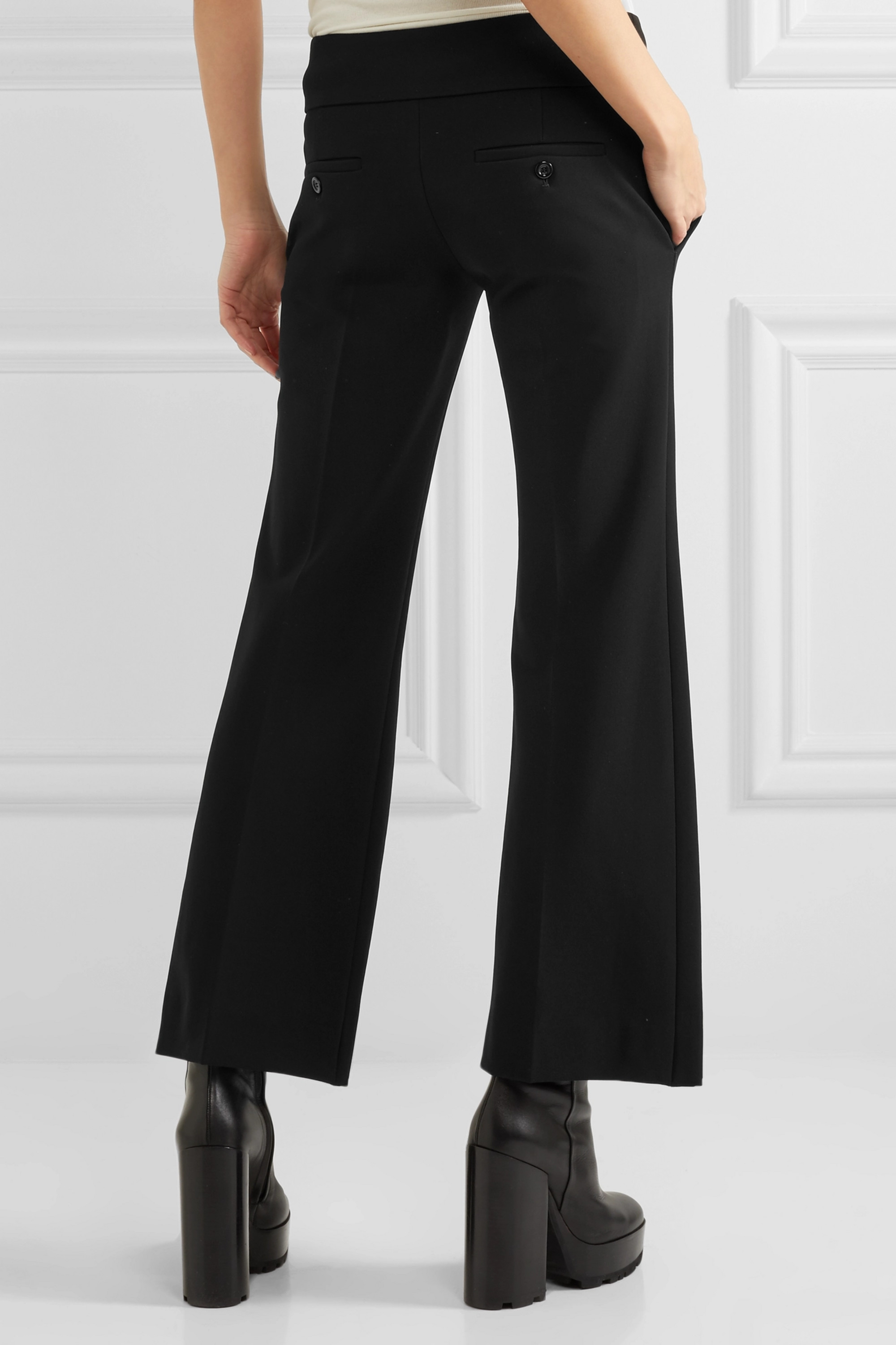 Gucci Cropped stretch-jersey flared pants