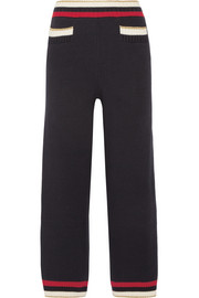 Gucci Striped knitted cotton-blend straight-leg pants