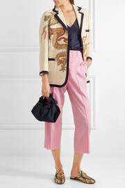 Gucci Cropped wool-blend straight-leg pants