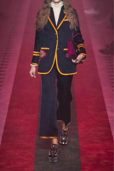Billig Verkauf Echt Angebote Zum Verkauf Gucci Schlaghose aus Satin mit Streifen Ausgang Wählen Eine Beste Günstig Kaufen Großen Rabatt Auslass 2018 Unisex 1na4B