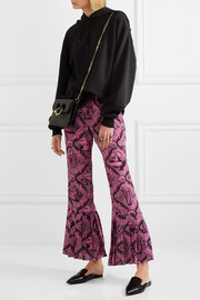 Gucci Pleated printed silk crepe de chine wide-leg pants