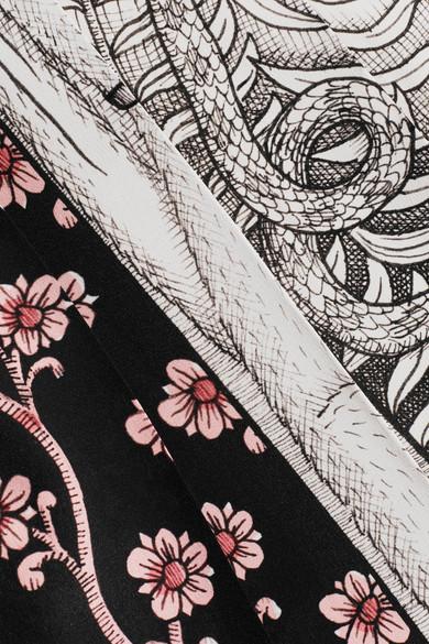 Gucci Bedruckter Midirock aus Crêpe de Chine aus Seide mit Falten Exklusiv Günstig Online Billig Manchester Rabatt Zuverlässig RYXkqrmM