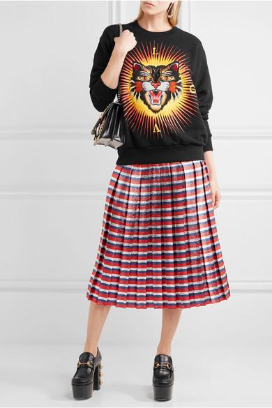 Gucci Bedrucktes Sweatshirt aus Baumwoll-Jersey mit Applikation Verkauf Wirklich Versand Rabatt Verkauf Rabatt Mit Paypal Professionelle Günstig Online Gutes Angebot 0AeK7jA