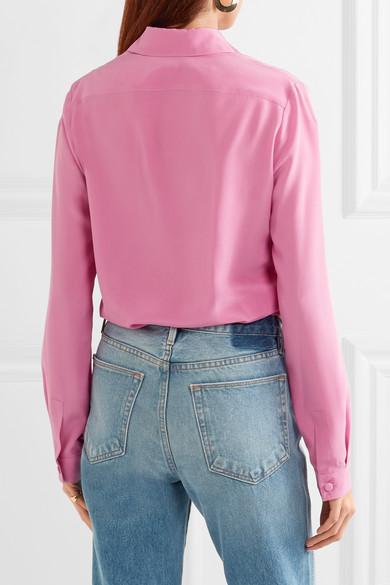 Gucci Seidenhemd aus Crêpe de Chine Verkauf Eastbay GixWM8