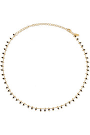 Elizabeth and James Reina gold-plated beaded choker